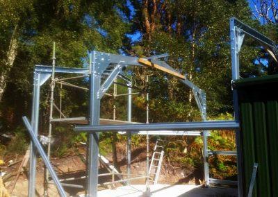 Steel workshop extension