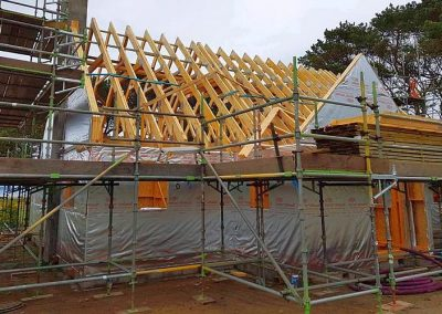Trusses today, wish the weather was better